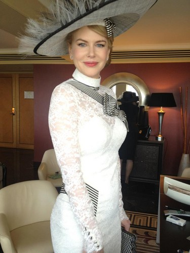 Nicole Kidman wallpaper possibly with a boater and a fedora called Nicole - My Fair Lady of Derby Day