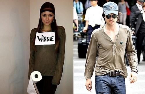 Nina in Ian's camicia