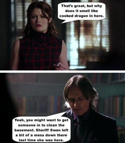 OUAT - goud and Belle - comic