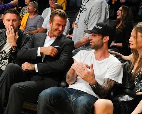 Oct. 30th - LA - David at the game between the Dallas Mavericks and the Los Angeles Lakers