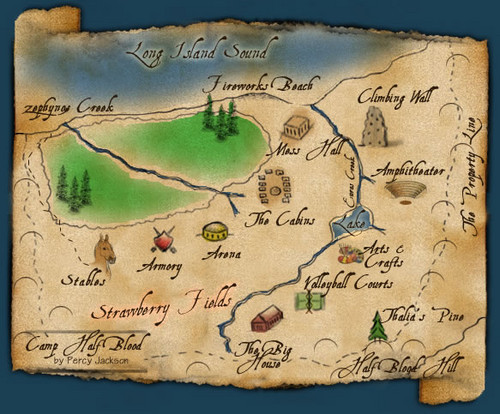 Offical Camp Half-Blood map