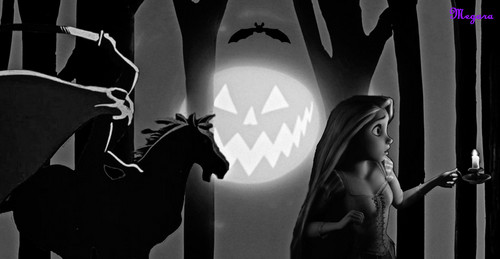 Disney crossover karatasi la kupamba ukuta possibly with a mitaani, mtaa titled On Halloween Night
