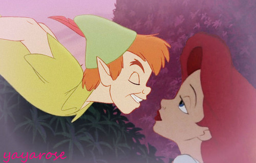 disney crossover achtergrond probably with anime entitled Peter Pan and Ariel