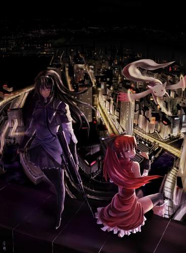 Mahou Shoujo Madoka Magica hình nền called Puella Magi Madoka Magica!