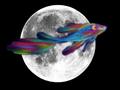 Rainbow fish on the moon <3
