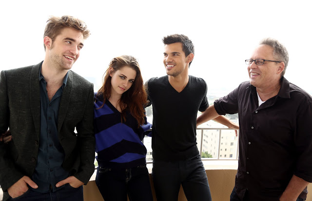 Rob,Kristen,Taylor and BD director Bill Condon