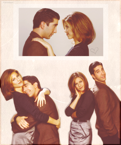 Ross and Rachel wallpaper probably containing a sign and a portrait called Ross and Rachel