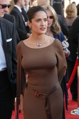 Salma Hayek braless sexy nipple pokie - salma-hayek Photo