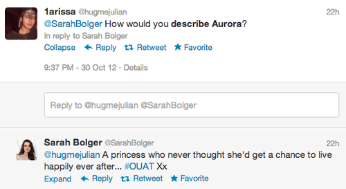 Sarah Bolger Describe Aurora: Unhappily Ever After