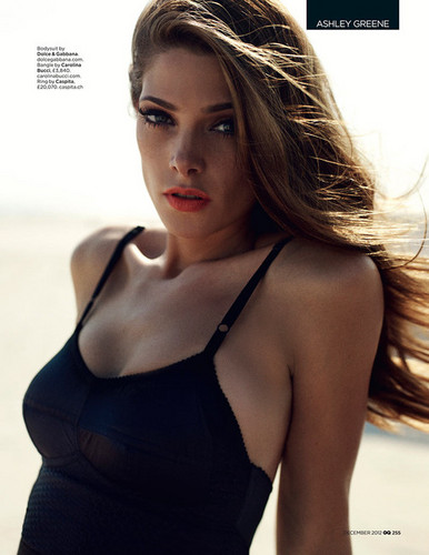 Scans of Ashley in 'GQ' magazine, December 2012. [Interview + New photoshoot]