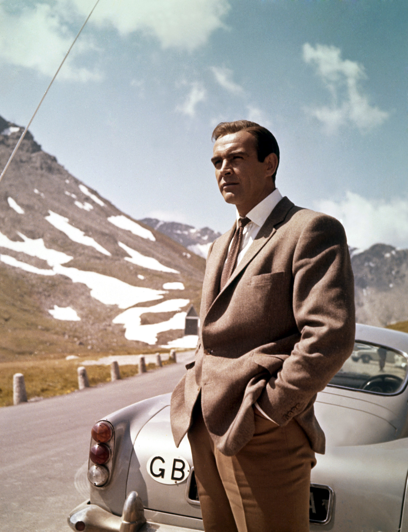 Sean Connery And the DB5 in Goldfinger