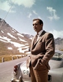 Sean Connery And the DB5 in Goldfinger - james-bond photo