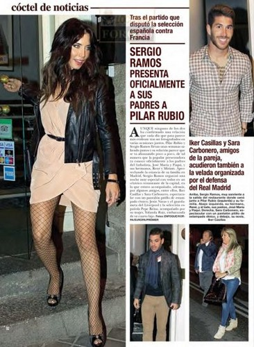 Sergio Ramos and his new girlfriend Pilar Rubio