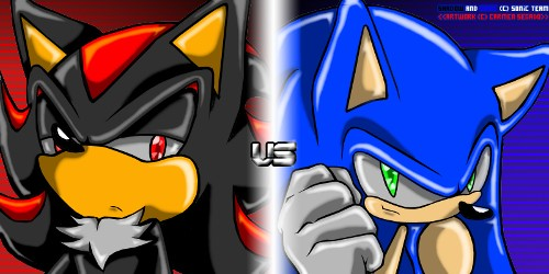 Shadow The Hedgehog wallpaper with anime called Shadow vs Sonic