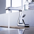 Solid Brass Bathroom Sink Faucet (Chrome Finish)