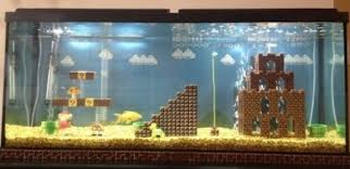 Super Mario Bros in a peixe tank