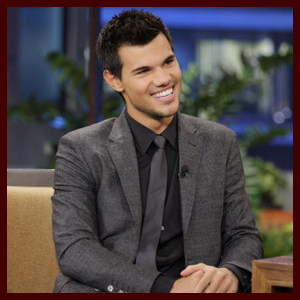 Taylor Lautner on Jay Leno Oct 31,2012