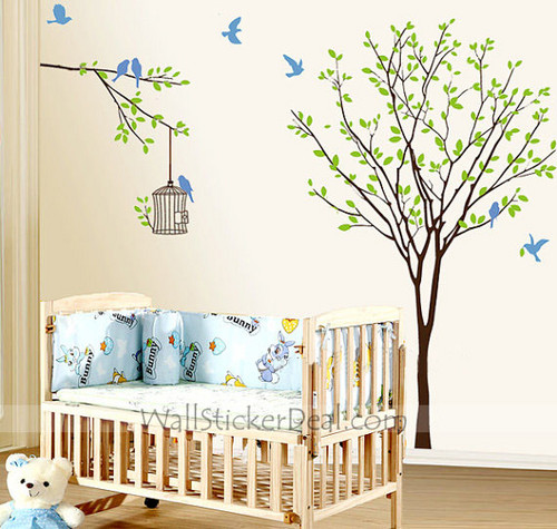 The Birds Flitted from Branch to Branch in the Woods دیوار Sticker