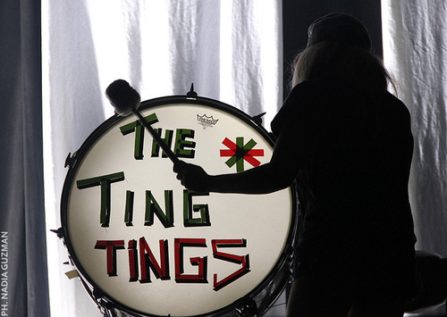 the ting tings Hintergrund possibly containing a bass drum entitled The Ting Tings