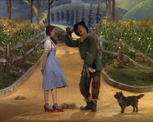 Le Magicien d'Oz fond d'écran probably containing a street, a mulch, and a railroad tunnel called The Wizard of Oz