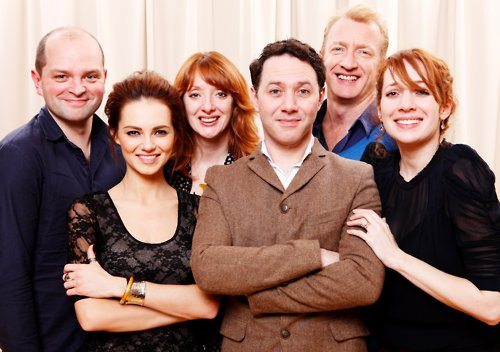 "The cast Of Alan Ayckbourn's ""Absent Friends"""