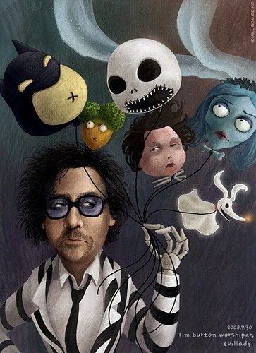 Tim burton kertas dinding possibly containing Anime called Tim burton