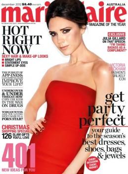 Victoria Beckham:Marie Claire - Australia - Dec'12