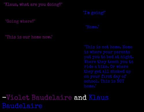 紫色, 紫罗兰色 and Klaus Baudelaire quote