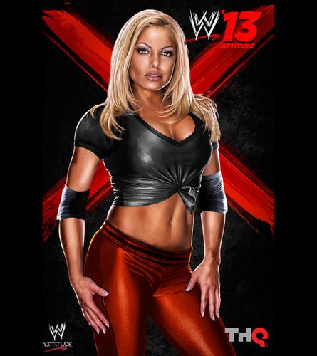 트리시 스트래터스 바탕화면 probably containing a 란제리 titled WWE '13 - Trish Stratus