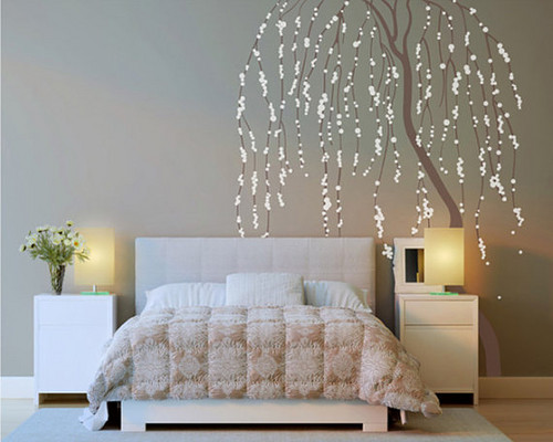 Home Decorating Wallpaper Possibly With A Living Room, A Hotel Room, And A  Family. Weeping Willow Tree Wall Sticker.