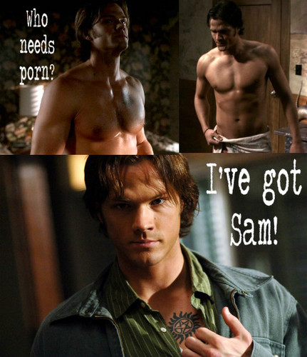 Supernatural wallpaper titled Who needs porn?