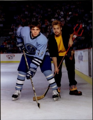 Will Friedle wallpaper possibly containing an ice hockey, an ice hockey rink, and a hockey stick entitled Will & Matthew