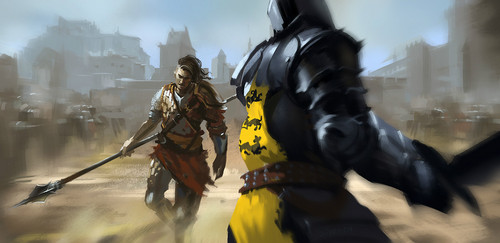 As Crônicas de Gelo e Fogo wallpaper with a breastplate, an armor plate, and a fauld, falso titled Oberyn Martell & Gregor Clegane