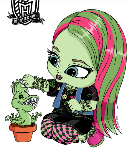 Monster High achtergrond containing anime titled baby Venus