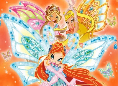 The Winx Club پیپر وال entitled bloom flora stella enchantix