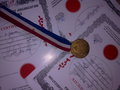 certificates and medal