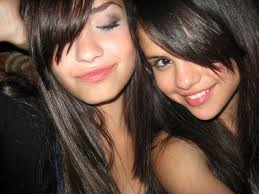 demi and selena having fun