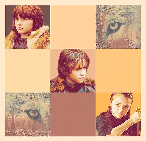 Bran, Rickon & Arya