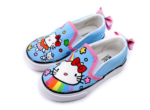 hand paiunted hello kitty shoes
