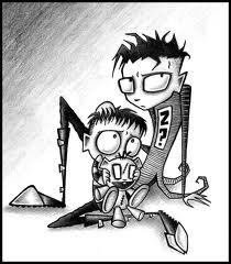 Johnny the Homicidal Maniac দেওয়ালপত্র with জীবন্ত entitled johnny and squee