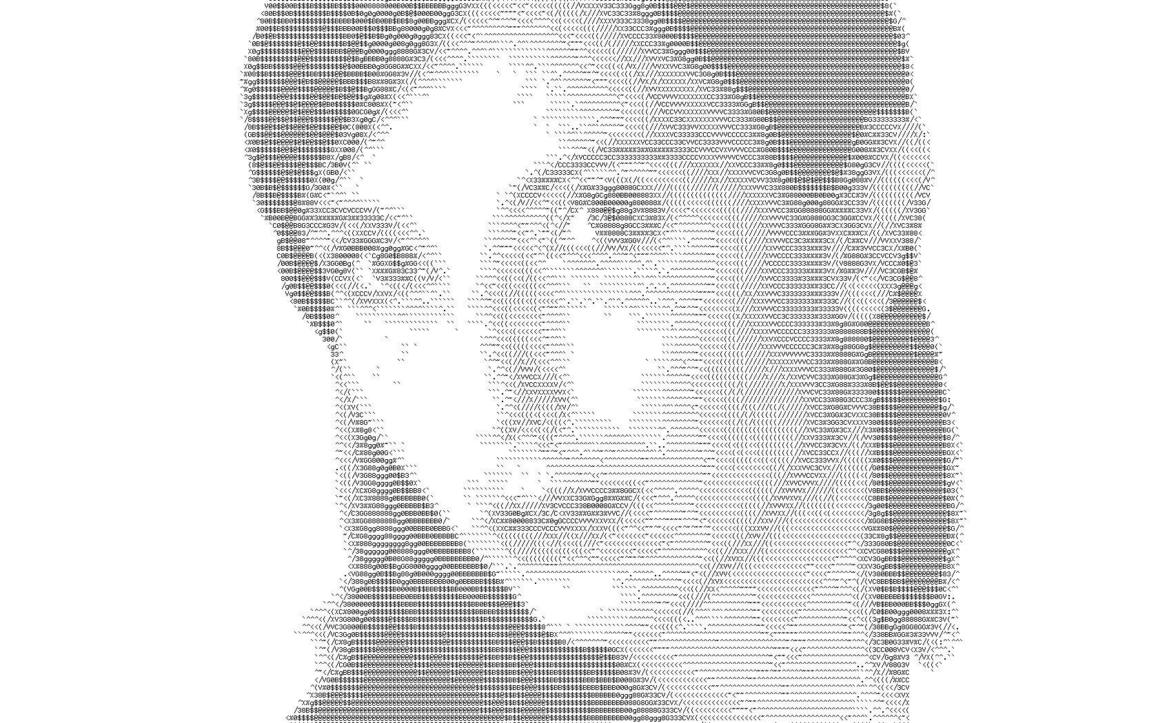 Ascii Art Lart Du Portrait Ascii From Httpfotopedia