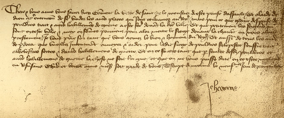 Letter To The English Joan Of Arc