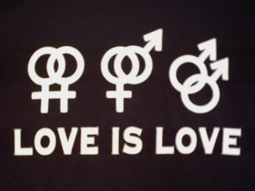 Gay Rights Wallpaper With A Sign Titled Love Is Love