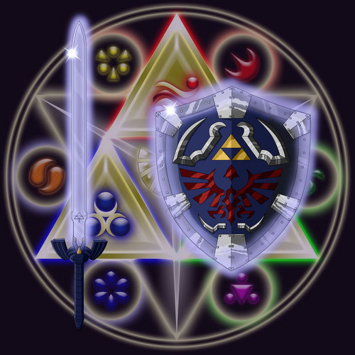 master sword and all the things wewe need to get/upgrade it + shield