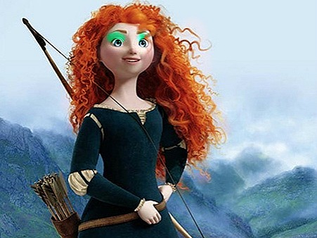 merida wearing makeup