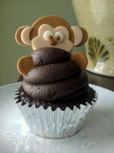 monkey cokelat cupcake