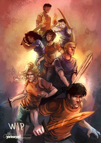 The Heroes of Olympus achtergrond containing anime entitled percy jackson