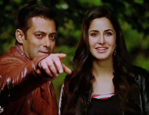 Salman Khan And Katrina Kaif wallpaper containing a portrait and a well dressed person titled salman & katrina