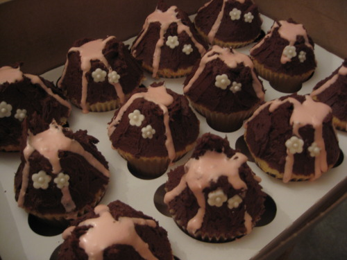 vulcano chocolat cupcakes