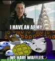 we have waffles - teen-titans photo
